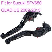 KODASKIN Left and Right  Folding Extendable Brake Clutch Levers for Suzuki SFV650 GLADIUS 2009-2015