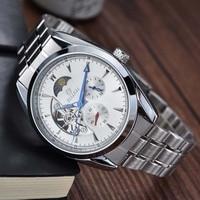 New Men Mechanical Wrist Watches Luxury Brand Goer Tourbillon Automatic Mechanical Watches Moon phase Relogio Masculino