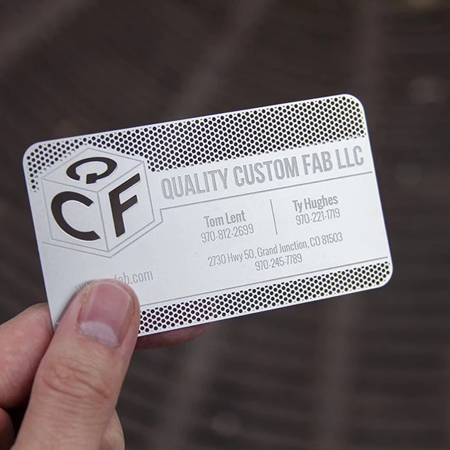 Manufacture Wholesale Cheap Custom Logo Cut Out Stainless Steel Business Metal Card