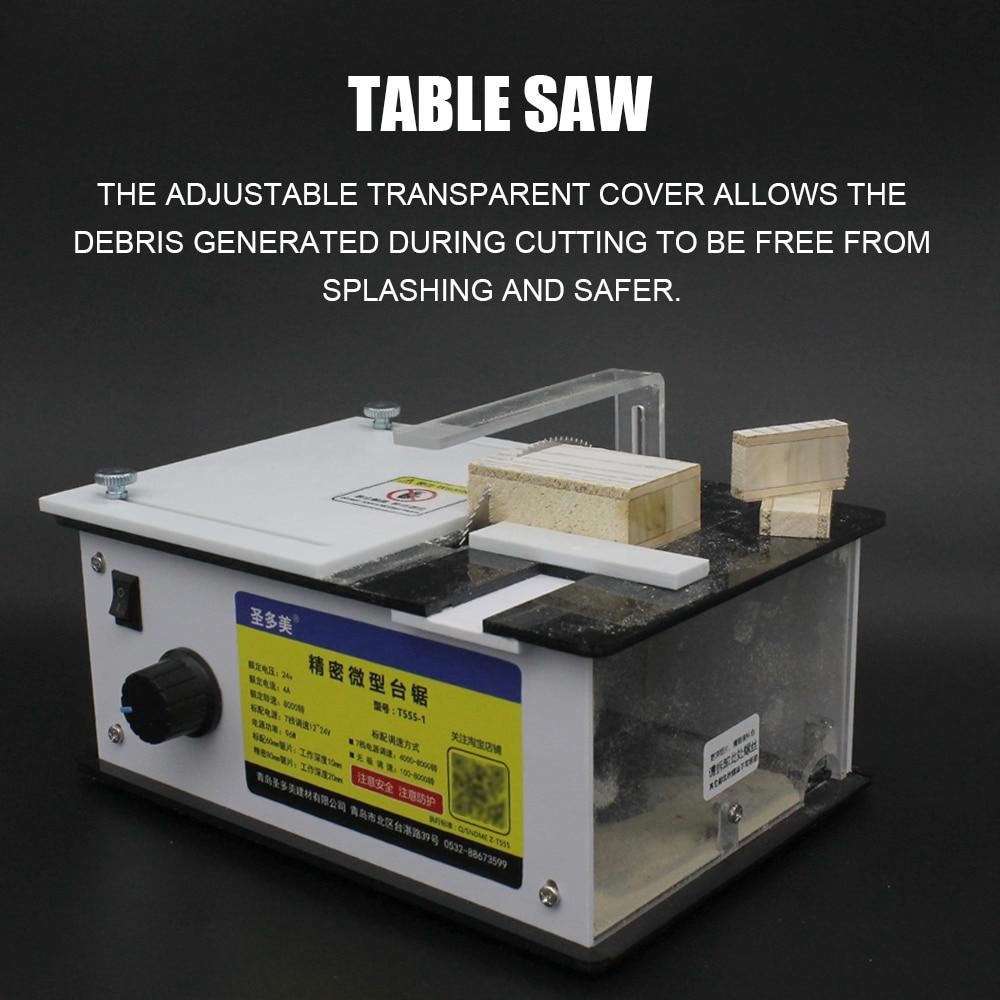 Multifonctionnel Mini scie à Table électrique petit ménage bricolage tronçonneuse travail du bois scie sauteuse banc Machine électrique banc scies