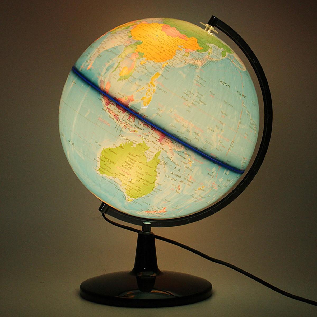 32cm électrique avec lumière monde Globe terre carte enseigner éducation géographie jouet terrestre Tellurion Globe maison bureau bureau décor - 4