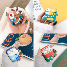 Cartoon Animal Dinosaur Protective Silicone TPU Case Cover for Apple Airpods  Shockproof Earphone case Accessories