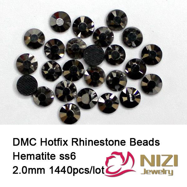 1440 pcs ss6 hematite Free shipping DMC hot fix rhinestones flat back rhinestones HighQuality-7 hematite дезодорант deospray nature s