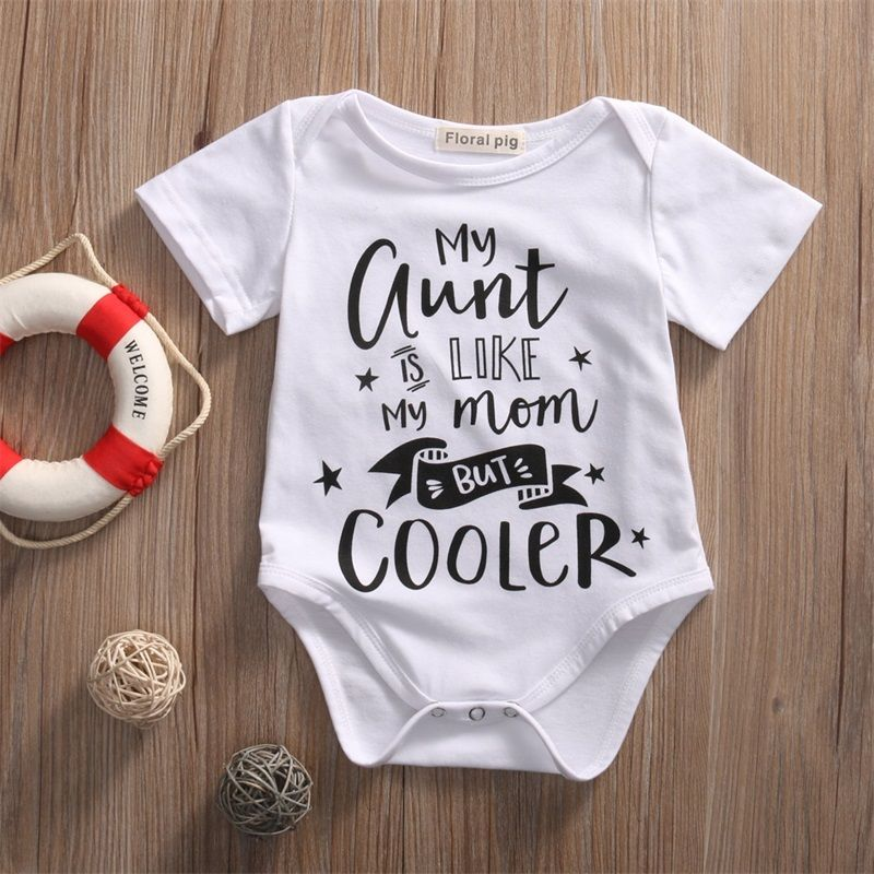 Summer Outfits Set Sunsuit Letter Print Unisex Baby Clothes Bodysuit
