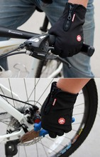 GLV974 Men and women outdoor fleece font b gloves b font Touch screen windproof cycling font