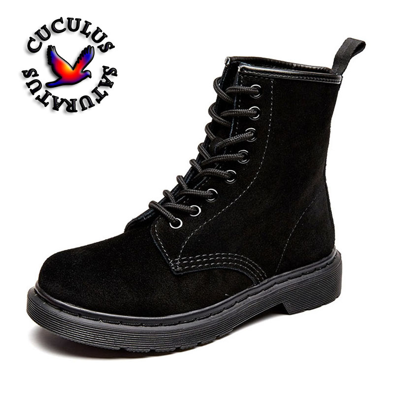 Cuculus Fashion wild couple boots cow split shoes Ankle Martin Boots Warm women boots Winter shoes woman Motorcycle Boots 608-9 qiyhong brand waterproof winter warm snow boots men cow split leather motorcycle ankle fashion high cut male casual clearance
