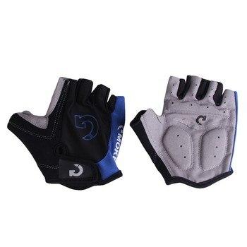 1Pair Half Finger Cycling Gloves Anti-Slip Gel Bicycle Riding Gloves Anti Slip For MTB Road Mountain Bike Glove Anti Shock Sport 1