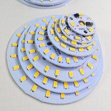 10 шт. SMD 5730 алюминиевый светодиодный модуль, интегрированный Драйвер лампы пластины переменного тока 220 в белый/теплый для замены потолочный светильник