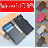 Leather Case For HTC Desire 600 606W 606 W Flip Cover Case Housing For HTC600 Desire600