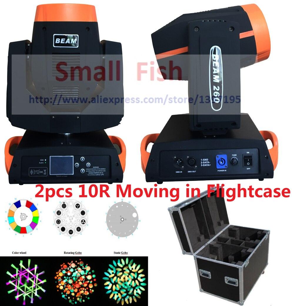 2XLot in Flightcase 260W 10R Sharpy Spot Beam Moving Head gobo Light 6/16 Prism Zoom/3D/DMX for Wedding DJ Shows Nightclub Event удлинитель zoom ecm 3