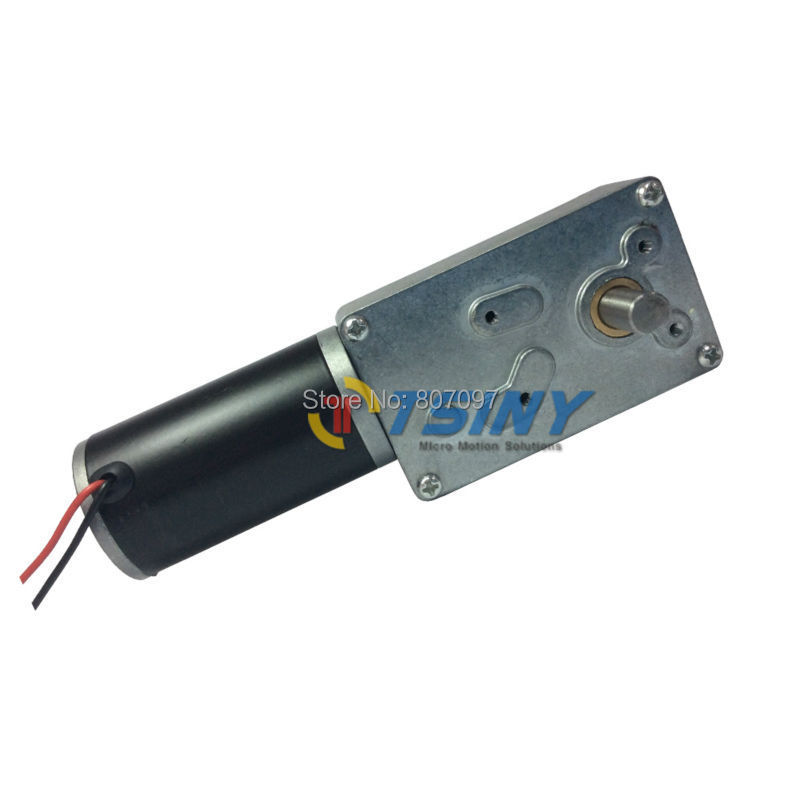 Dc 12v/3rpm/100kg.Cm High Torque Worm Dc Geared Reducer Motor Of Biaxial Shaft,Free Shipping