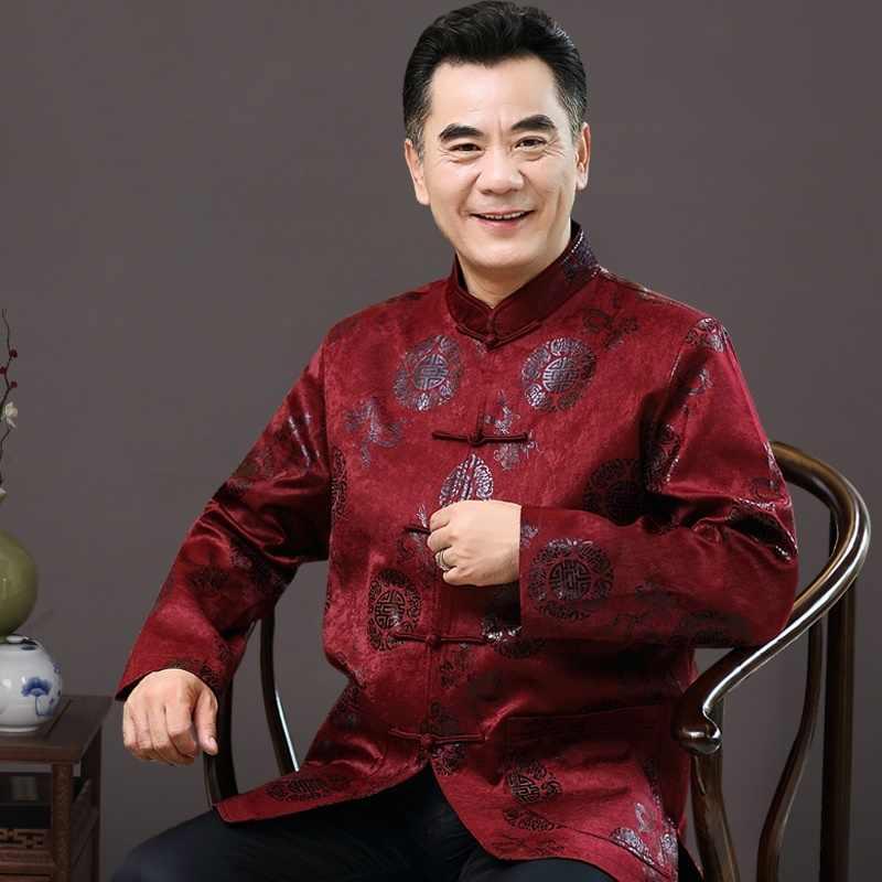 繁体字中国語服男性のための男性上海唐装服マンダリンカラー冬のコートの男性 2018 TA037