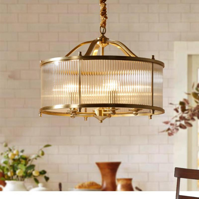 Modern gold Brass Restaurant Cafe Light Copper pendant lamps Bedroom Hanging Lamps dining room led Glass shade pendant lights modern crystal chandelier hanging lighting birdcage chandeliers light for living room bedroom dining room restaurant decoration