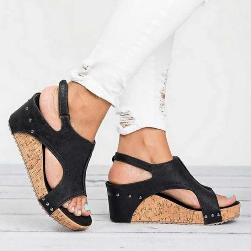 Mujer 2019 Clog Alpargatas De Cuñas Para Tacones Sandalias Plataforma Wenyujh Verano Mujeres Zapatos ED29eHYWbI