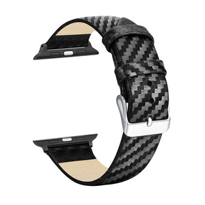Image 4 - ブラックカーボン保護時計バンド 42 ミリメートル 44 ミリメートル 38 ミリメートル 40 ミリメートル腕時計用カバーiwatchシリーズ 5 4 3 2 1 ストラップ