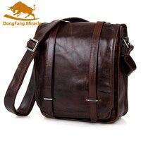 Retro Leather Small Satchel Leather Shoulder Bag Tablet PC Bag 7109C