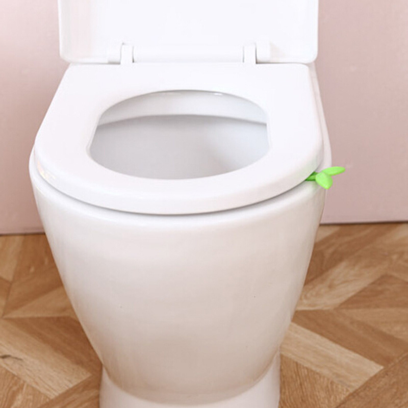 1Piece Long Green Leaves Toilet Lid Lifting Device Sitting Commode Bathroom  Accessories Toilet Handle Portable Sanitation 2016 In Toilet Seat Cover  From ...