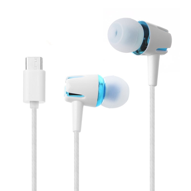 Type-c Earphone Stereo Wire Earphones USB Type-C Ear Voice With MIC For LeEco Le 2/Max/Pro For xiaomibuds In-Ear Wired Contro metal type c earphone stereo bass hifi wired earbuds usb type c earphones with microphone for letv leeco le 2 max pro headphones