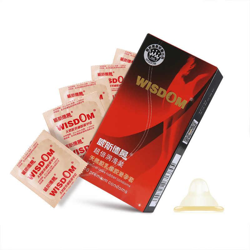 Sicuro Contraccezione Preservativi Del Sesso Ultra Sottile per Gli Uomini Naturtal Preservativi In Lattice di Gomma Sexy Erotico Maschile Contraccezione Preservativo 10 pz/scatola