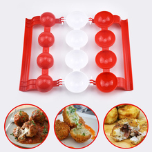 New Creative Plastic Meatballs Maker Fish Balls Molds DIY Stuffed Meat Ball Mold Rice balls Making Cooking Tool Kitchen Gadget automobile cheap plastic injection molds making