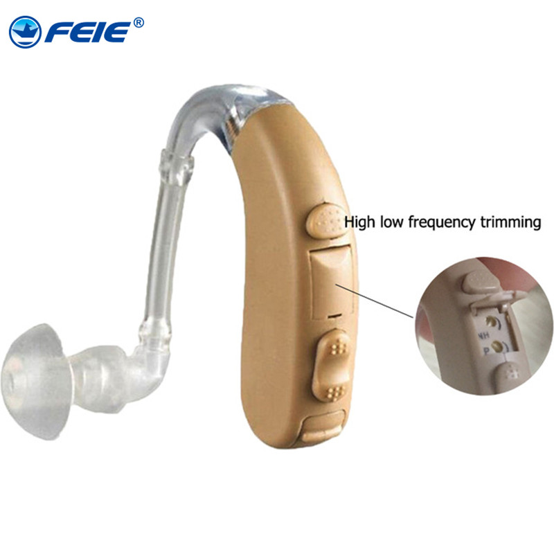 Wireless Invisible Hearing Aid Earphone for Old People Hearing Loss Battery Deafness Hard S-303 Behind Ear Sound Enhancement old people hearing aid earphone sound clear amplifier hearing aids mini in the ear for hearing loss person s 303