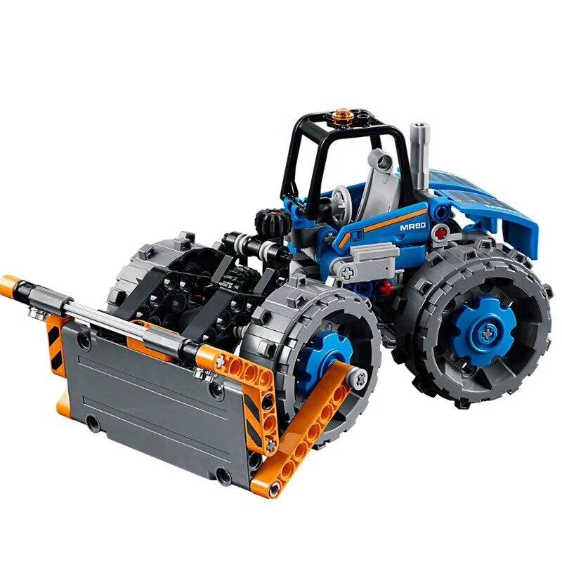 Technic City 2 IN 1 Dozer Compactor Building Blocks Set Bricks Classic Model Kids Toys For Children Gift Compatible Legoe цена