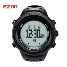 Big discount EZON Altimeter Barometer Thermometer Compass Weather Forecast Outdoor Men Digital Watches Sport Hours Climbing Hiking Wristwatch