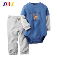 ZOFZ Babys And Girls Clothes Outfit Cartoon Long Sleeve Shirts Pants Baby Romper Jumpsuit Newborns Infant