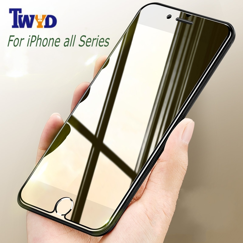Premium Tempered Kaca Screen Protector Untuk Apple iPhone XS Max XR 8X7 Ditambah 6 6 s Ditambah 5 5 s 5c se 4 4 ​​s Pelindung ...