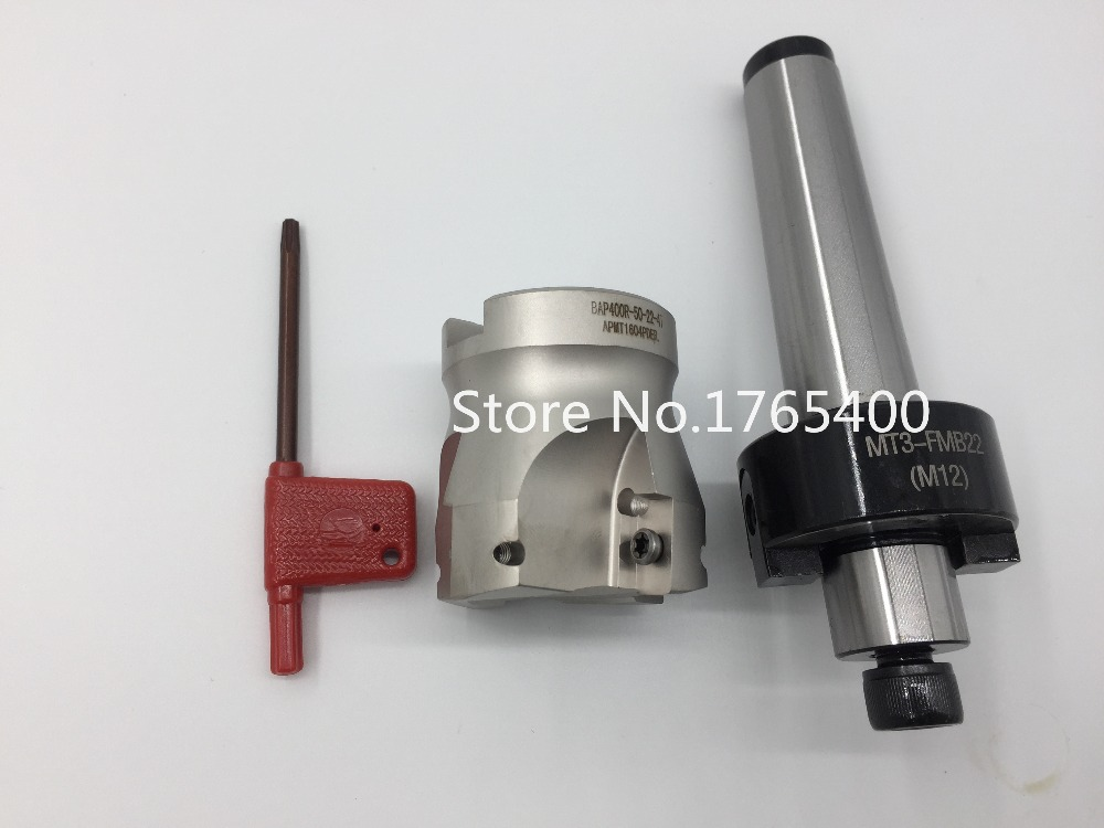New MT2 M10 FMB22 +BAP400R 50-22-4T Face end mill cutter + 10pcs APMT1604 carbide inserts  CNC milling new m16 mt4 fmb22 bap400r 63 22 4t face end mill 10pcs apmt1604 carbide inserts cnc mill