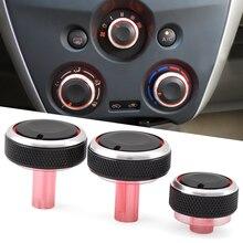 Perilla de estilismo para aire acondicionado para coche, interruptor de control de temperatura, accesorios para coche Nissan New Sunny March
