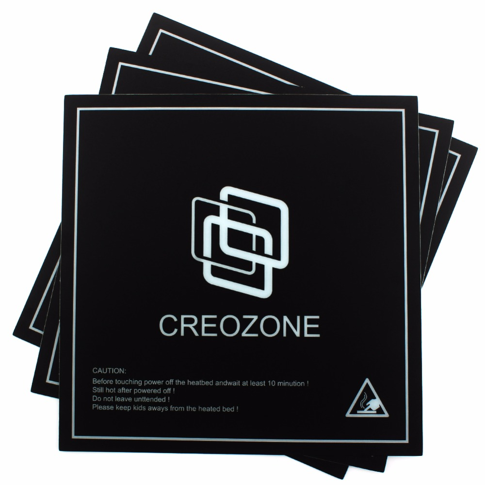 CREOZONE 3D Printer Bed Build Surface 3D Printer Heated Bed Plate Bed Sheet 8 x 8