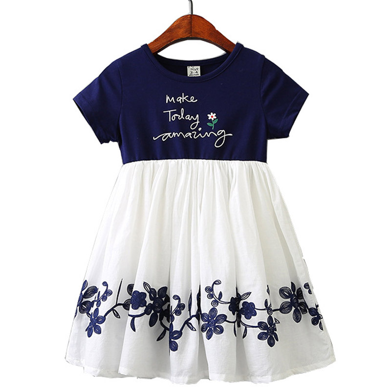 2019 Summer New Girls Tutu Dress Embroidery Flower Design Cotton Mesh Fashion Baby Girls Clothes Princess Kids Dresses For Girls Buy At The Price Of 8 35 In Aliexpress Com Imall Com