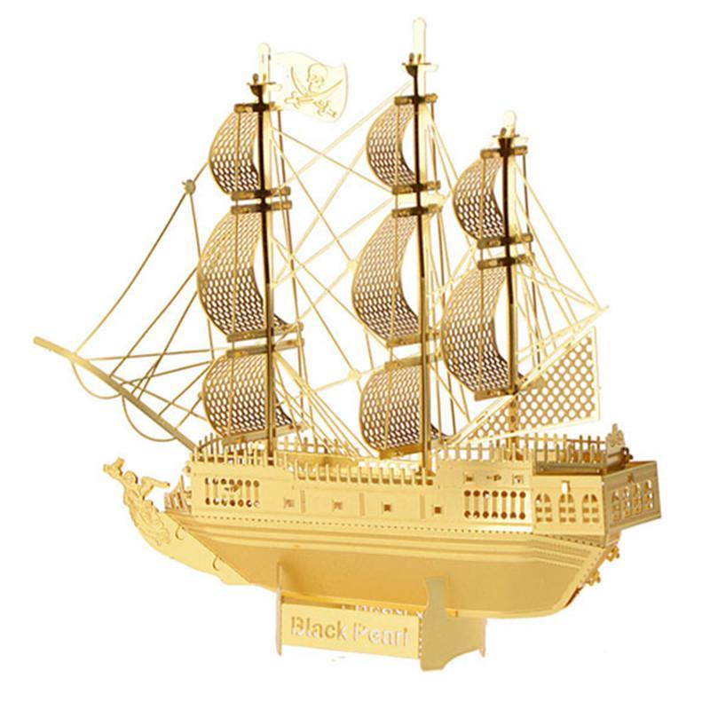 Hot Sale 3D DIY Metal Puzzle Assembled Corsair Ship Model Intellegent Educational Jig Saw Puzzles