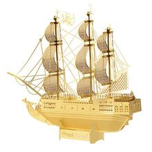Hot Sale 3D DIY Metal Puzzle Assembled Corsair Ship Model Intellegent Educational Jig Saw Puzzles