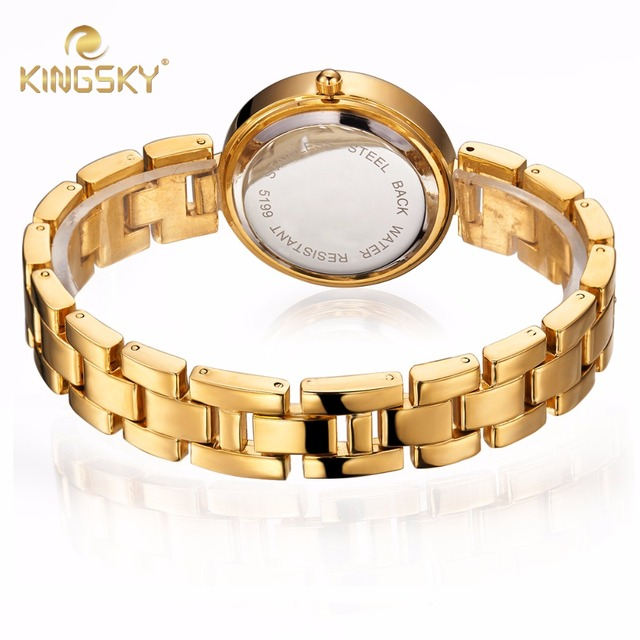 KS5199 KINGSKY Brand Women Diamond Watches Stainless Steel Ladies Chain Wrist Watch Luxury Bracelet Watch relogio
