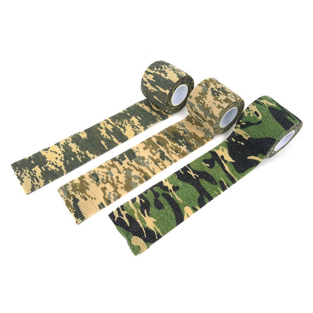 Cool Camping Camo Camouflage Tape Waterproof Wrap Stealth Suitable For Cylindrical Wrapped Items Separately