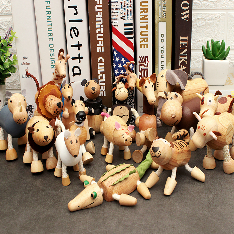 Simulation Animal Model Doll Doll Boys And Girls Puppet Toy Pull Line Handmade Ornaments Birthday Gift