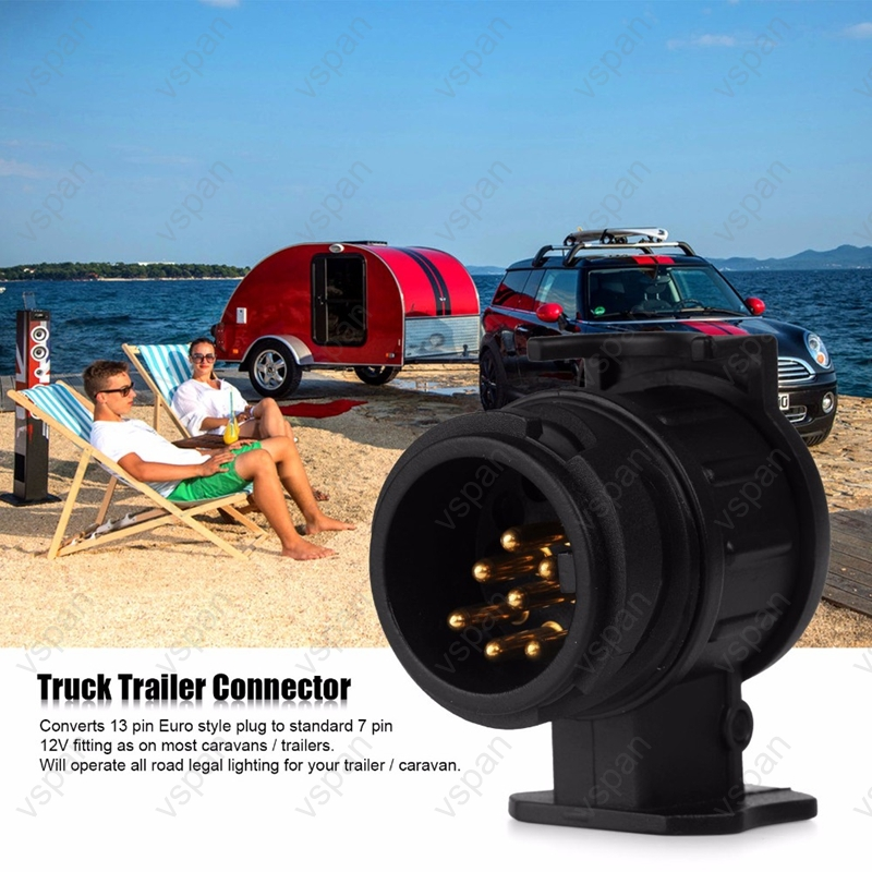 Купить с кэшбэком 13 to 7 Pin & 7 to 13 pin Trailer Electric Converter Tow Bar Plug Adaptor Socket Trailer Caravan Wiring Electrical Converter