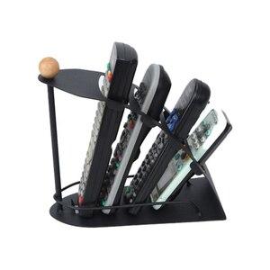 Image 4 - TV uzaktan kumandası için standı Tutucu SIKAI 4 kafesler Metal Organizatör cep telefonu saklama kutusu Desteği