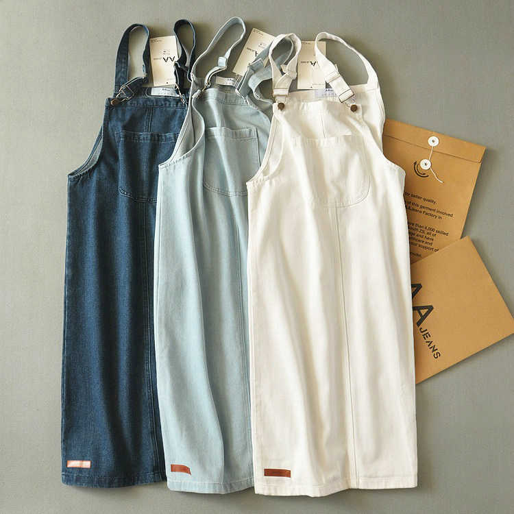 2f1b909884 Detail Feedback Questions about Denim sundress female jean pinafore ...