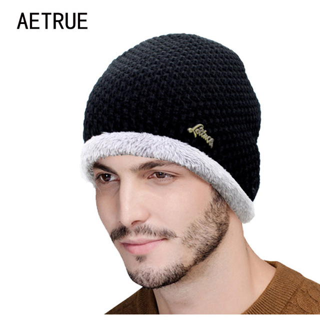 Wonderful Winter Beanies Knit Hat Men s Winter Hats For Men Women 2018  Brand JL25 3476099fe01b
