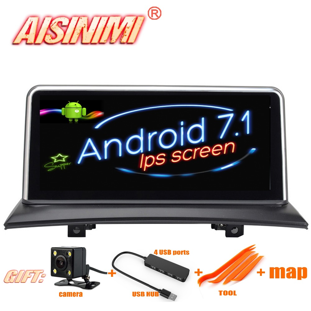 "Android 7.1 Car Dvd Navi Player FOR BMW X3 E83 2004 2005 2006 2007 2008 2009 audio gps stereo auto all in one 10.25"" IPS Screen"