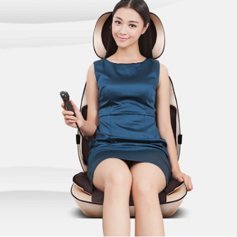 Upgrade Verson Multi-function 6D Electric Full Body Massager Neck Shiatsu Elbow Hips Massage Kneading Back Cushion Massage Chair массажная накидка wellneo 3d full body shiatsu