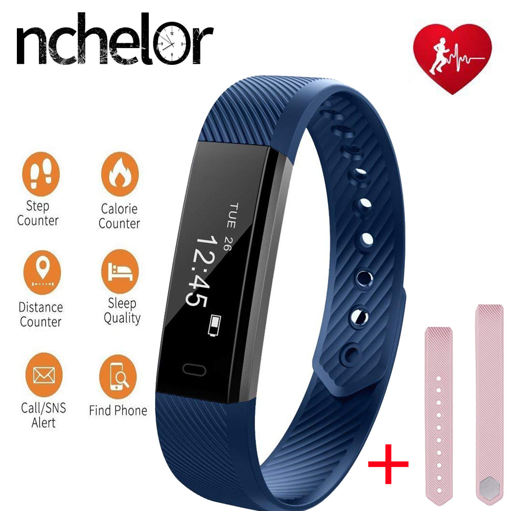 Smart Fitness Tracker Bracelet and replacement Strap With Heart Rate Sleep Monitor Wristband Men Women Watch