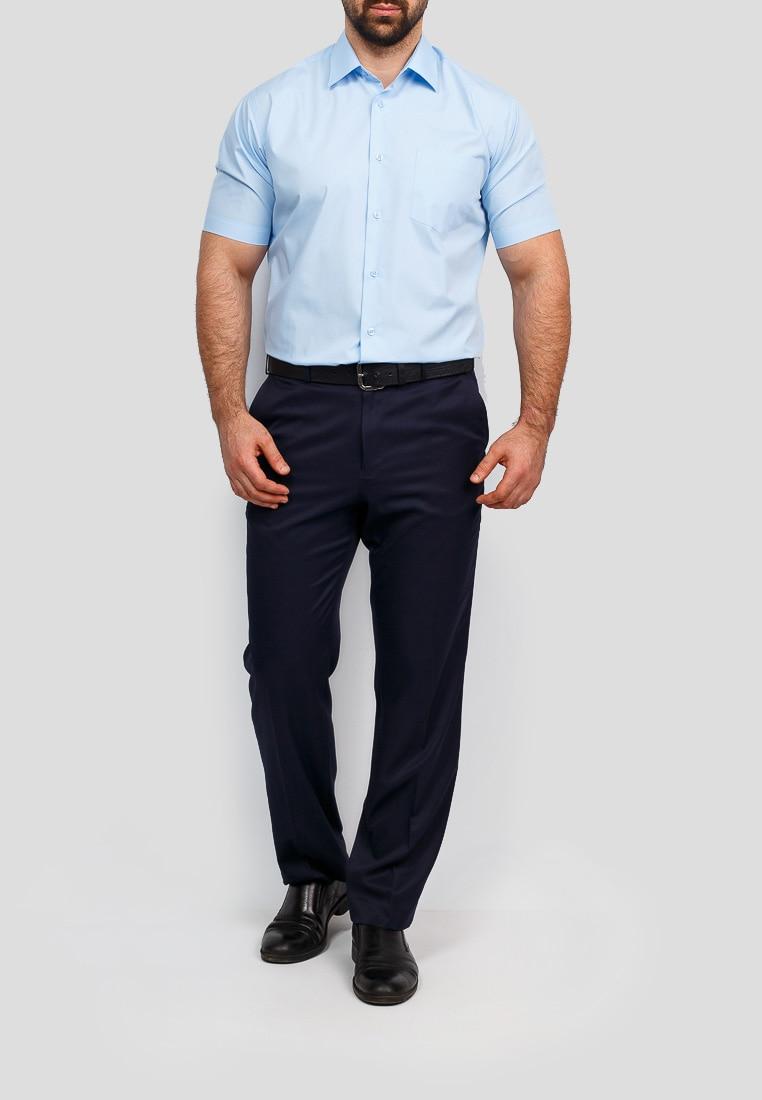 Shirt men's short sleeve GREG 220/309/NBL Blue