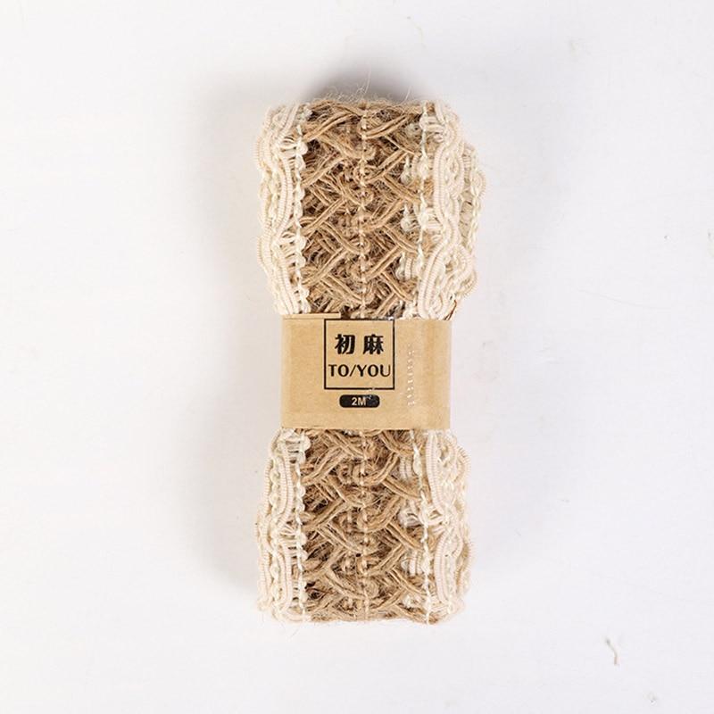 HTB1WvfeavjsK1Rjy1Xaq6zispXaq 2M/Roll Natural Party Crafts Wedding Ribbon Gift Warrping Hemp Ribbon Jute Burlap DIY Festival Supplies Festival Decoration