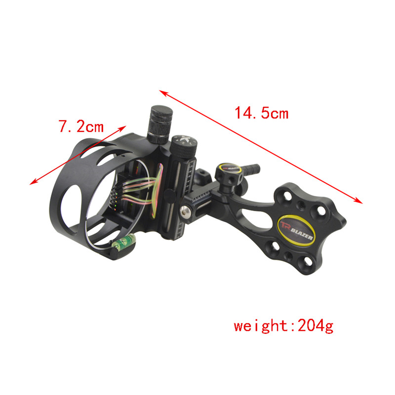 Image 2 - Archery Compound Bow 5Pin Sight CNC Aluminum Adjustable Bow Sights Camping Practicing Shooting Hunting Bow And Arrow Accessories-in Bow & Arrow from Sports & Entertainment