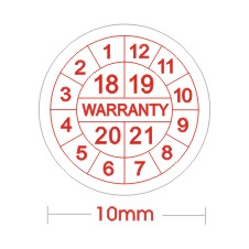 Free Shipping For 1000pcs Diameter 10mm Electronics Screw Sealing Label Sticker,Universal Warranty Sticker With Years & Months