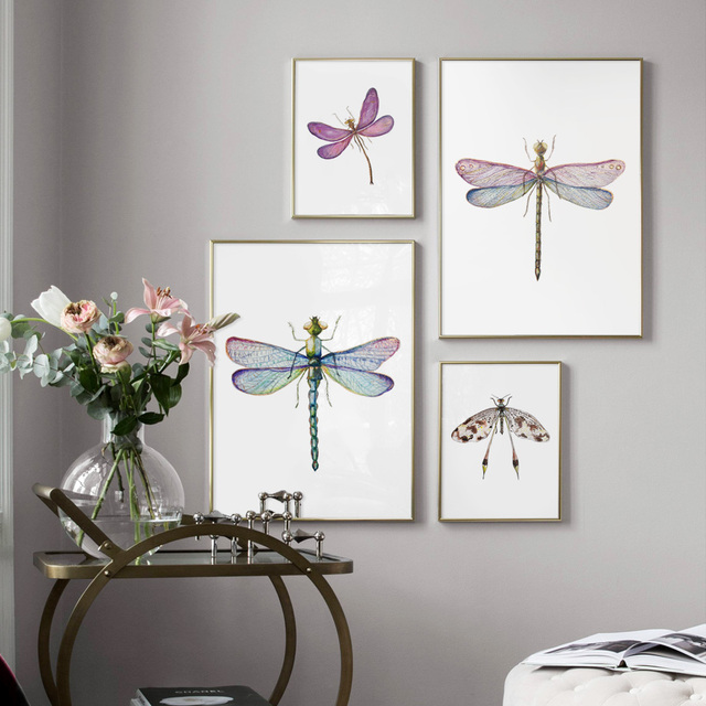 Colorful Dragonfly Wall Art